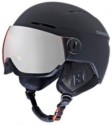 KASK CARRERA KARMA BLACK MATT SZYBA ORANGE
